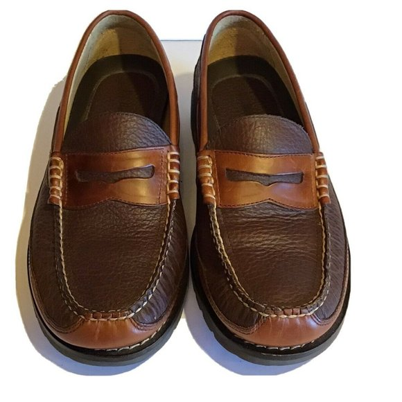 Men's L.L. BEAN Brown Tan Leather Loafers 10.5D